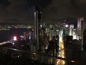 Hong Kong di sera