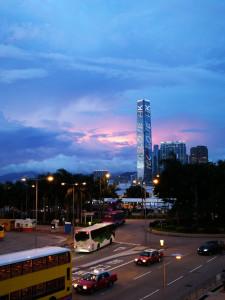 Tramonto su Hong Kong